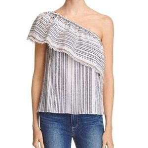 Bailey 44 Anthropologie Striped One Shoulder Top